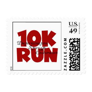 10K Run Red Postage