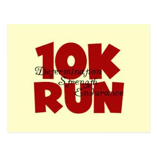 10K Run Red Postcard