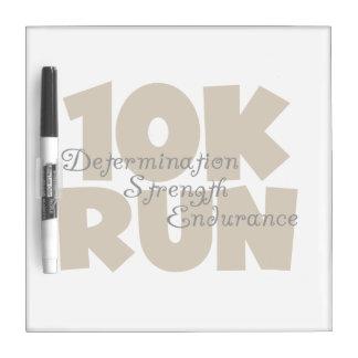 10K Run Tan Sports Running Dry-Erase Board