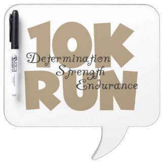 10K Run Tan Sports Running Dry Erase Board