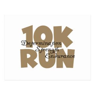 10K Run Tan Sports Running Postcard