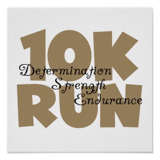 10K Run Tan Sports Running Poster