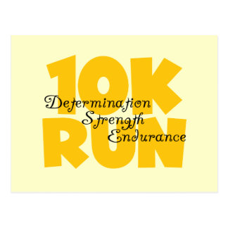 10K Run Yellow Postcard