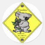 10km de la koala el después pegatinas redondas