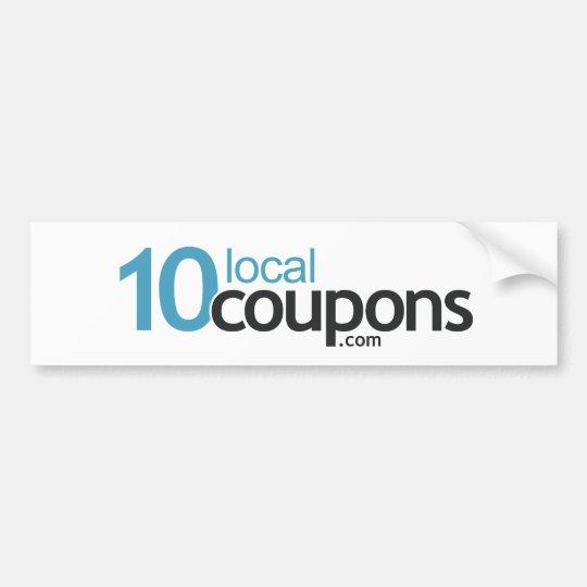 10LocalCoupons.com Bumper Sticker