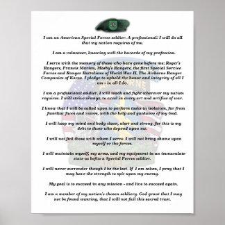 10ma impresión del credo de los veterinarios de lo póster