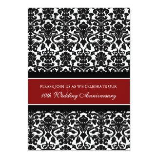 10ma invitación de la fiesta de aniversario del invitación 12,7 x 17,8 cm