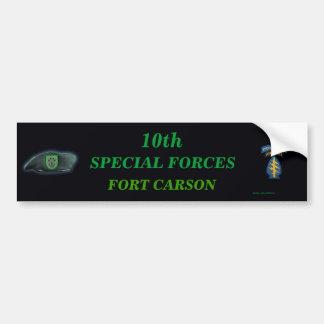 10ma pegatina para el parachoques del hijo de Iraq Pegatina De Parachoque