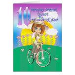 10ma tarjeta de cumpleaños de la bisnieta con poco