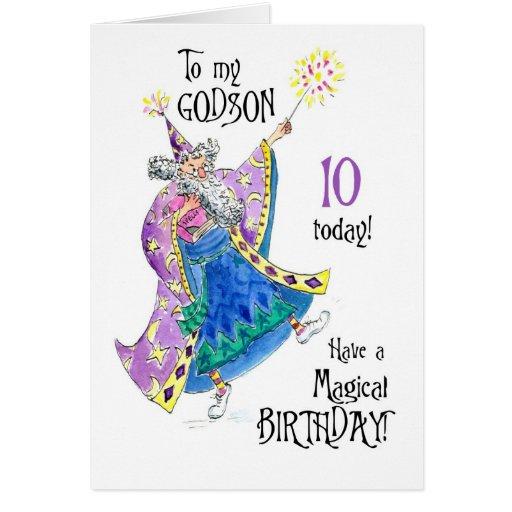 10ma tarjeta de cumpleaños del mago para un