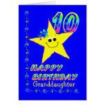 10mas estrellas de Brithday de la nieta Tarjetón