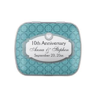 10mo Aniversario de boda del aniversario Z09 Frascos De Dulces