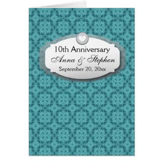 10mo Aniversario de boda del aniversario Z09 Tarjeta Pequeña