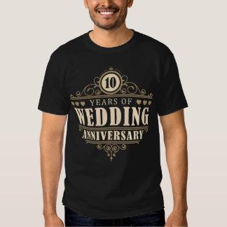 10mo Aniversario de boda (marido) Playera