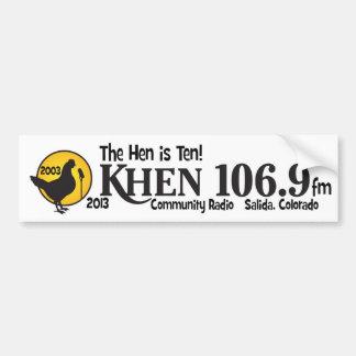10mo aniversario del kHEN Pegatina Para Auto