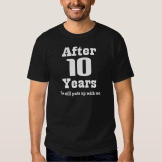 10mo Aniversario (divertido) Polera