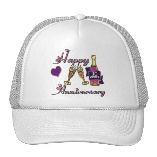 10mo. Aniversario Gorras De Camionero