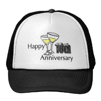 10mo aniversario gorros