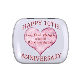 10mo. Aniversario Jarrones De Caramelos