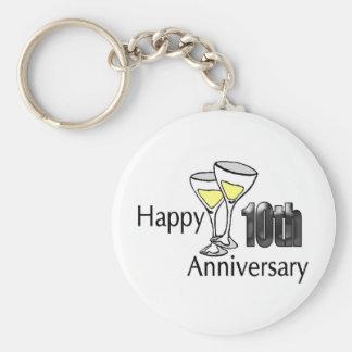 10mo aniversario llavero redondo tipo pin