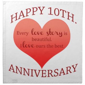 10mo. Aniversario Servilleta Imprimida