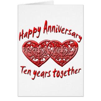 10mo. Aniversario Tarjetas
