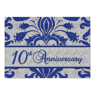 10mo Azul de la invitación del negocio del