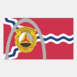 10mo Bandera del St. Lous de Batallion Rectangular Pegatina