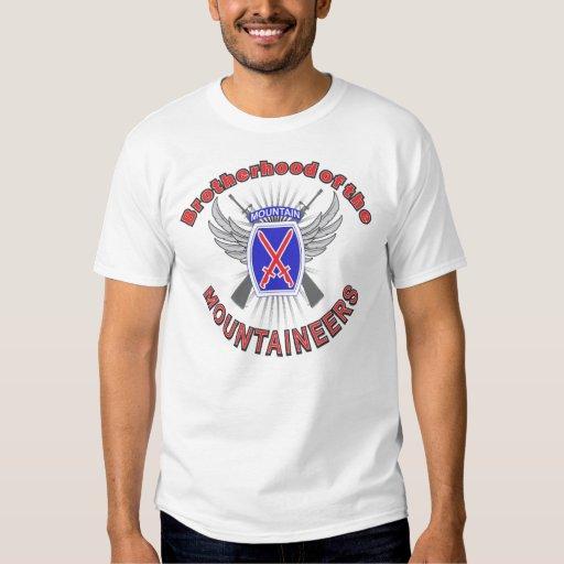 10mo Camiseta de la fraternidad de la montaña Camisas