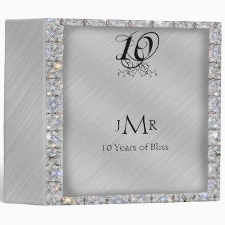 10mo Carpeta del aniversario de la lata y de boda