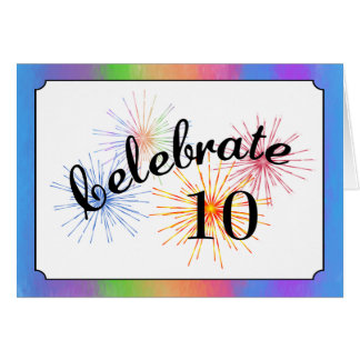 10mo Celebración del aniversario Tarjeta De Felicitación