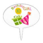 10mo cumpleaños - chica del cumpleaños decoración de tarta