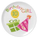 10mo cumpleaños - chica del cumpleaños plato