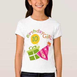 10mo cumpleaños - chica del cumpleaños playera