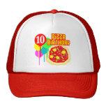 10mo Cumpleaños de la pizza del cumpleaños Gorros