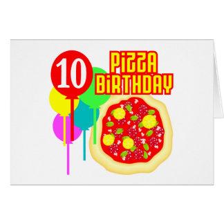 10mo Cumpleaños de la pizza del cumpleaños Tarjeta De Felicitación