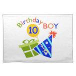 10mo cumpleaños de los muchachos manteles