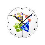 10mo cumpleaños de los muchachos reloj