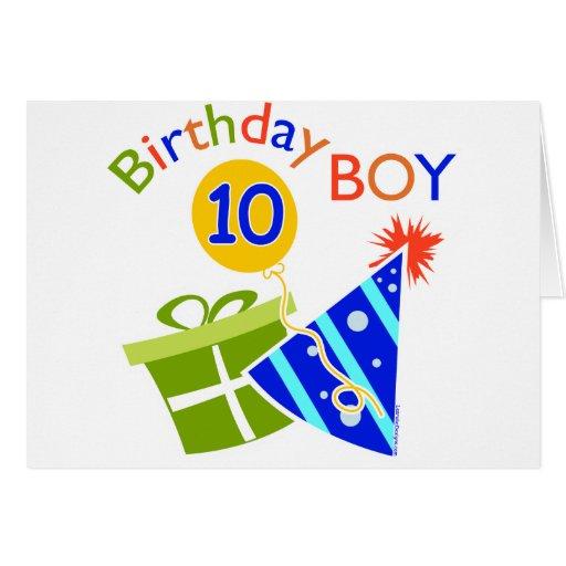 10mo cumpleaños de los muchachos tarjeta