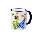 10mo cumpleaños de los muchachos taza de café
