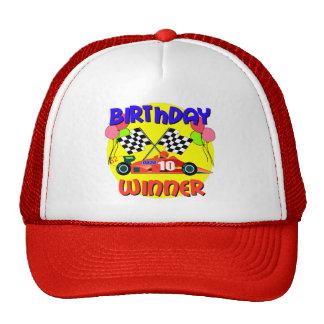 10mo Cumpleaños del coche de carreras del cumpleañ Gorros