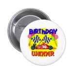 10mo Cumpleaños del coche de carreras del cumpleañ Pins