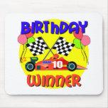 10mo Cumpleaños del coche de carreras del cumpleañ Alfombrillas De Raton