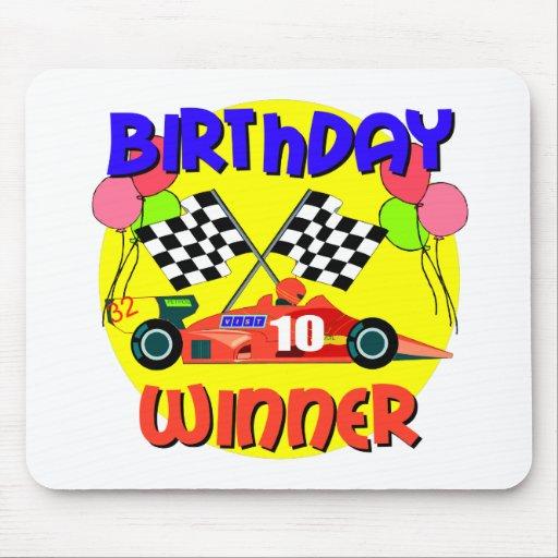 10mo Cumpleaños del coche de carreras del cumpleañ Mouse Pad