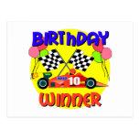 10mo Cumpleaños del coche de carreras del Postal