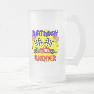 10mo Cumpleaños del coche de carreras del Taza De Cristal