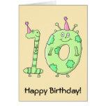 10mo Dibujo animado de la fiesta de cumpleaños - v Tarjeton