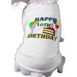 10mo Diseño del cumpleaños de la torta de cumpleañ Camisa De Perrito