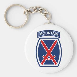10mo División de la montaña Llavero Personalizado