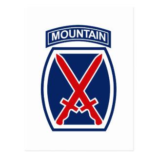 10mo División de la montaña Tarjeta Postal